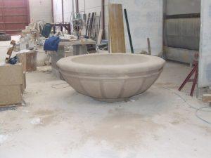 Macetero realizado en piedra