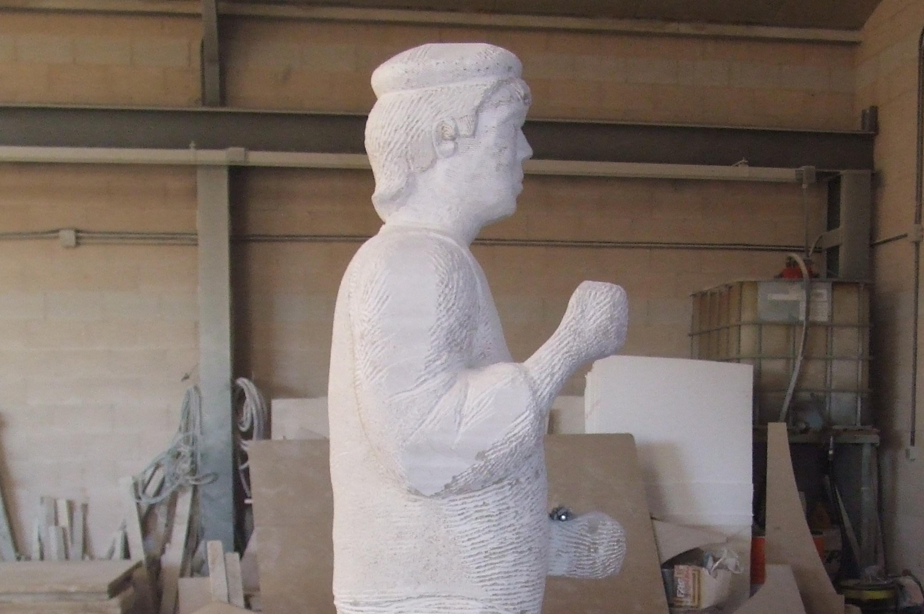 Escultura conmemorativa de un ganchero